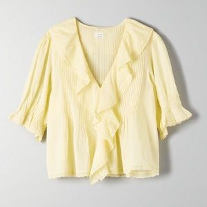 Aritzia Wilfred Blouse in Trendy Yellow